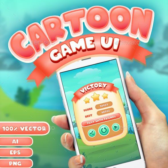 Cartoon Game UI Set