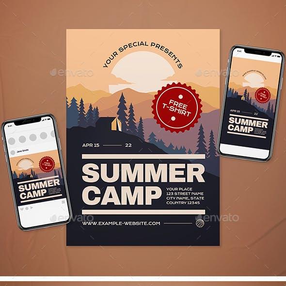 Summer Camp Flyer Set