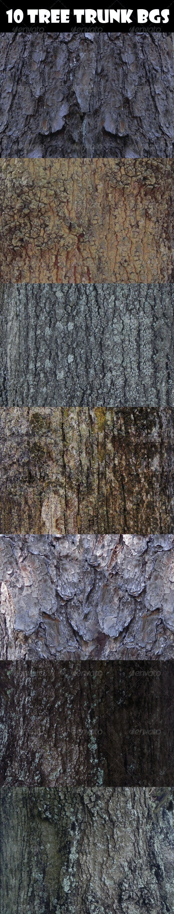 10 Tree Trunk Backgrounds - Wood Textures