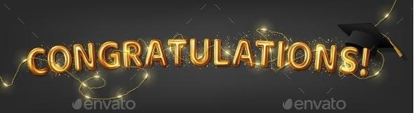 Congratulation Graduates 2021 Class of Graduations - Miscellaneous Vectors
