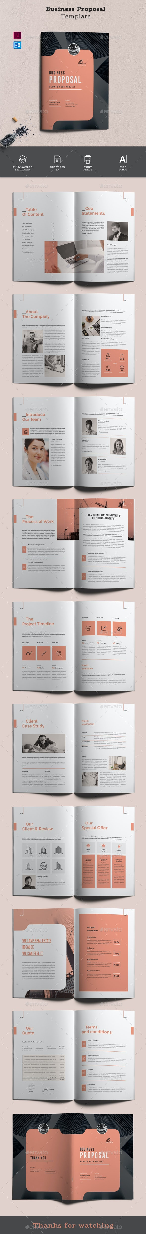 Proposal Template Word - Proposals & Invoices Stationery