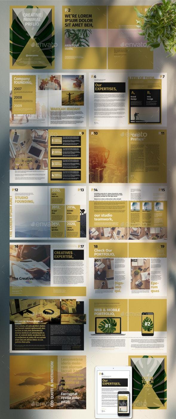 Portfolio Layout with Green Accent - Portfolio Brochures