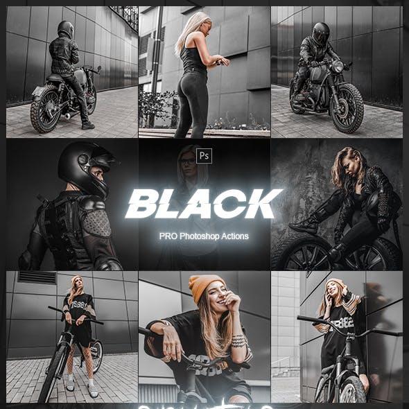 Black Tones Artistic Photoshop Actions