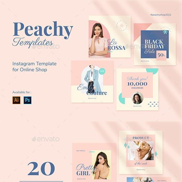 Peachy - Instagram Shop Template