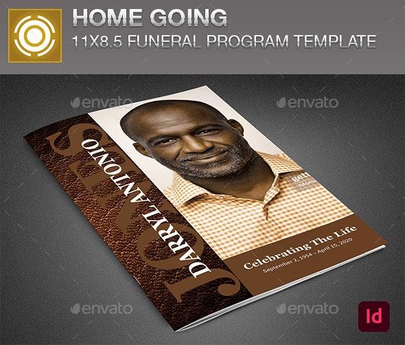 Homegoing Funeral Program Template - Informational Brochures