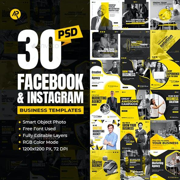 30-Facebook & Instagram Business Banners