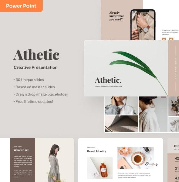 Athetic - Creative Power Point Presentation - Creative PowerPoint Templates