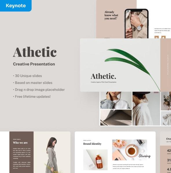 Athetic - Creative Keynote Presentation - Creative Keynote Templates