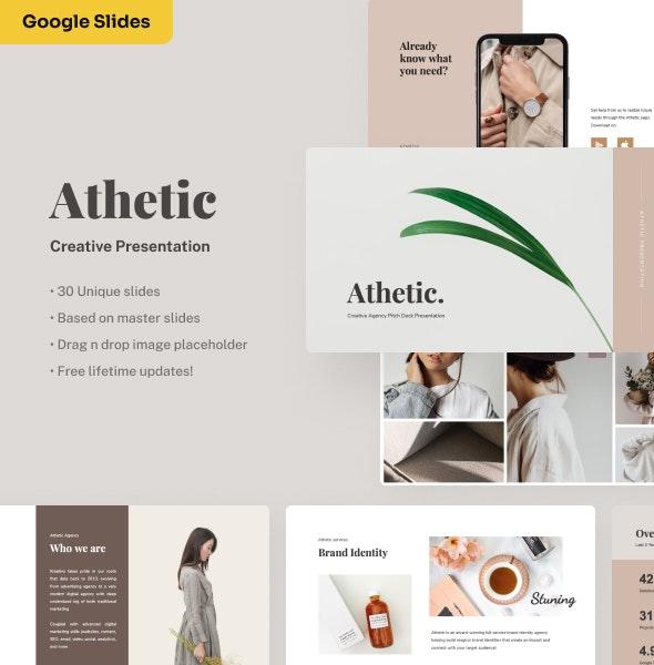Athetic - Creative Google Slides Presentation - Google Slides Presentation Templates
