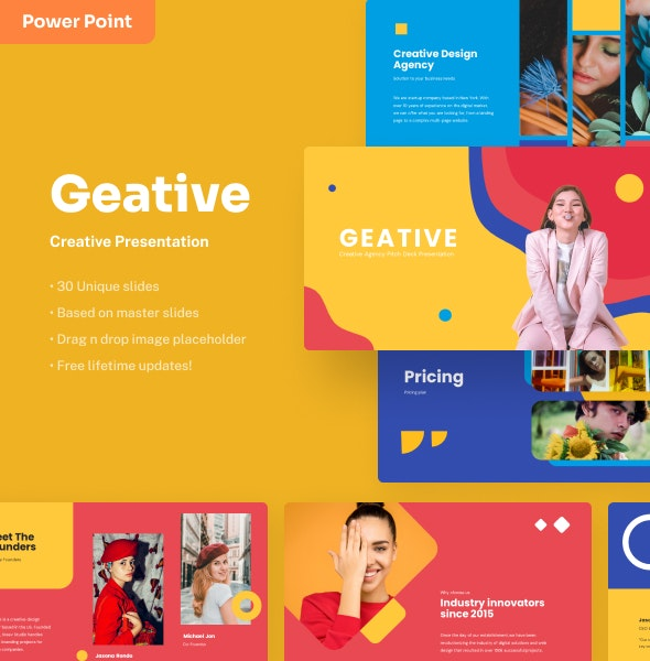 Geative - Creative Power Point Presentation - Creative PowerPoint Templates