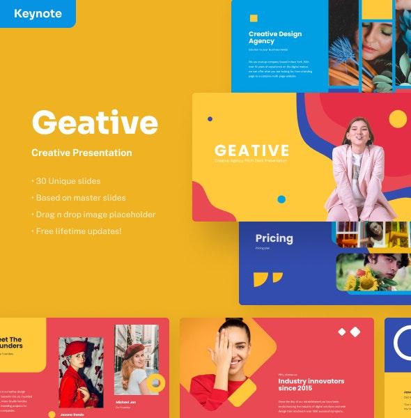 Geative - Creative Keynote Presentation - Creative Keynote Templates