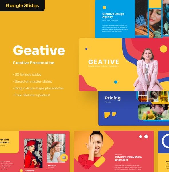 Geative - Creative Google Slides Presentation - Google Slides Presentation Templates