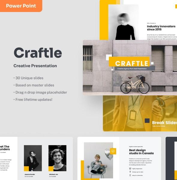 Craftle - Creative Power Point Presentation - Creative PowerPoint Templates