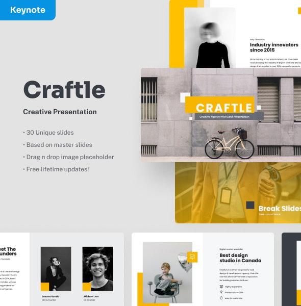 Craftle - Creative Keynote Presentation - Creative Keynote Templates