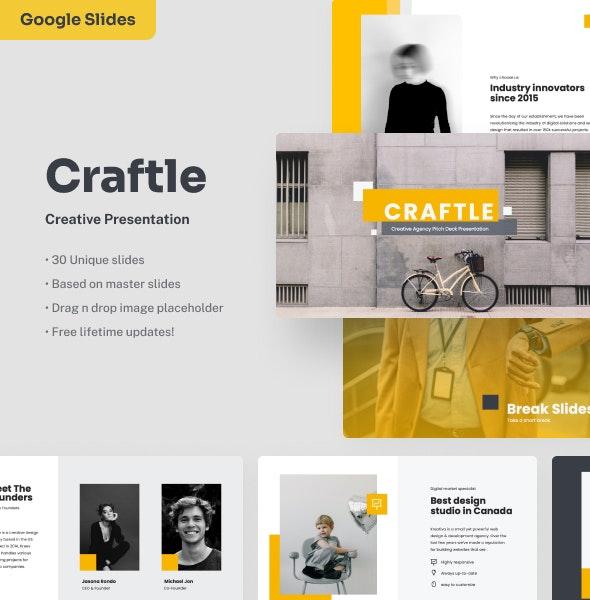 Craftle - Creative Google Slides Presentation - Google Slides Presentation Templates