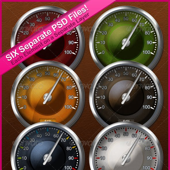Multi Layered Round Needle Gauge in Six Variations