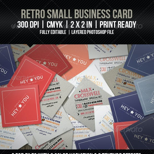 Retro Small Business Card