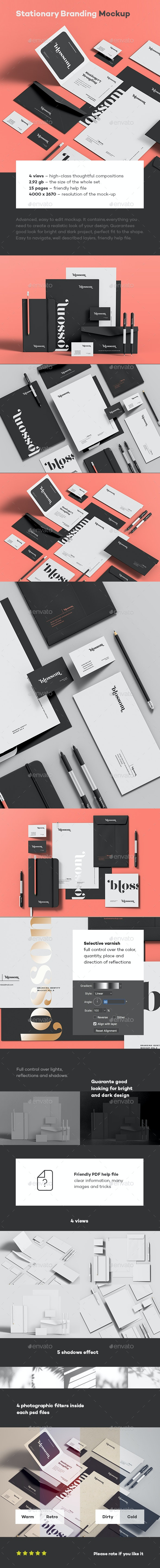 Stationary Branding Mock-up 9 - Stationery Print