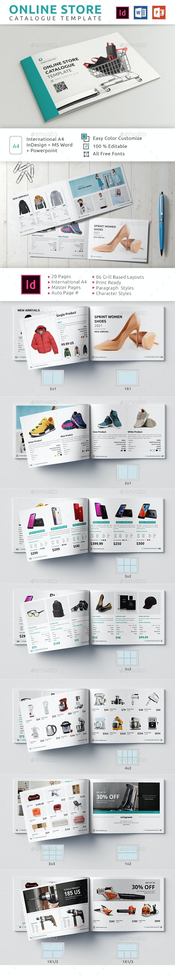 Online Store Catalogue Template - Catalogs Brochures
