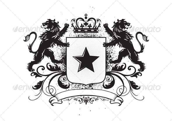 Lions crest - Decorative Symbols Decorative