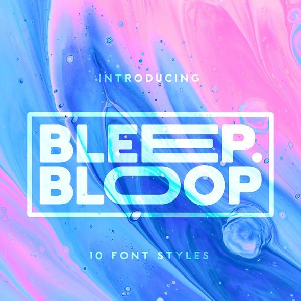 Bleep Bloop - Experimental Display Font