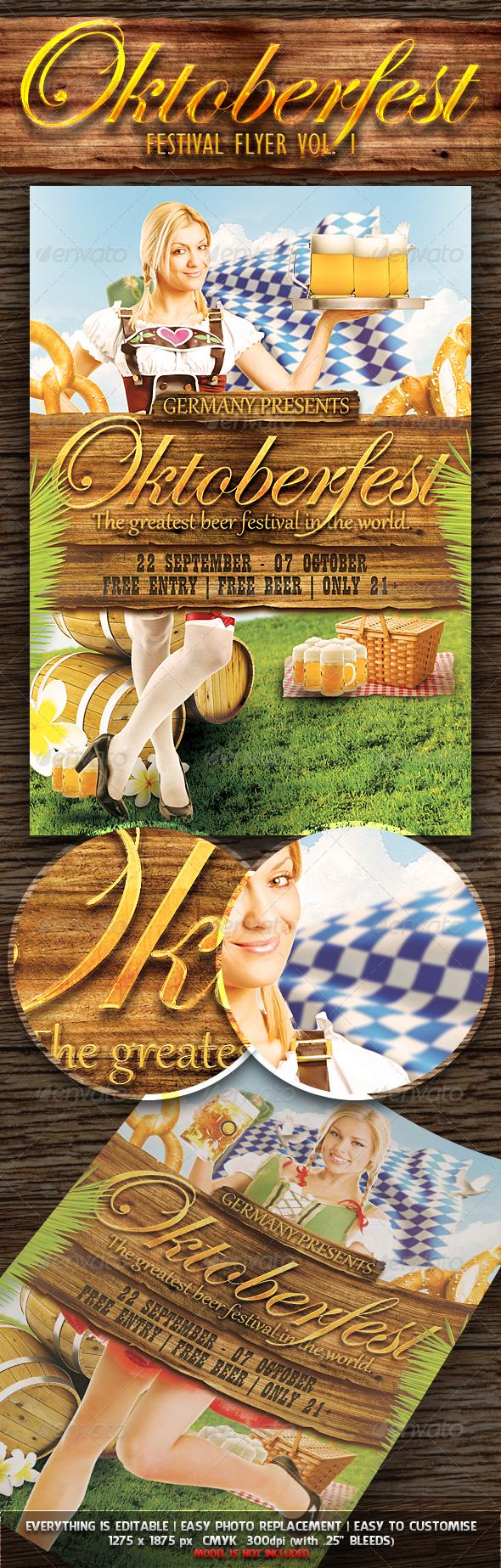 Oktoberfest Festival Flyer Vol. 1 - Miscellaneous Events