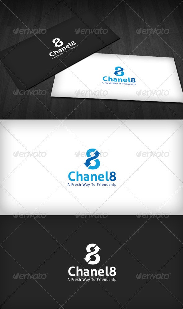 Chanel 8 Logo - Numbers Logo Templates