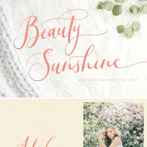 Beauty Sunshine Wedding Font