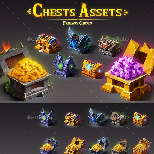 2D Chests Assets - Fantasy