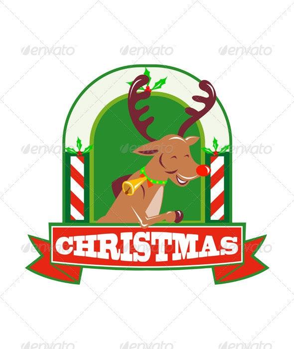 Reindeer Deer Stag Buck Christmas  - Christmas Seasons/Holidays