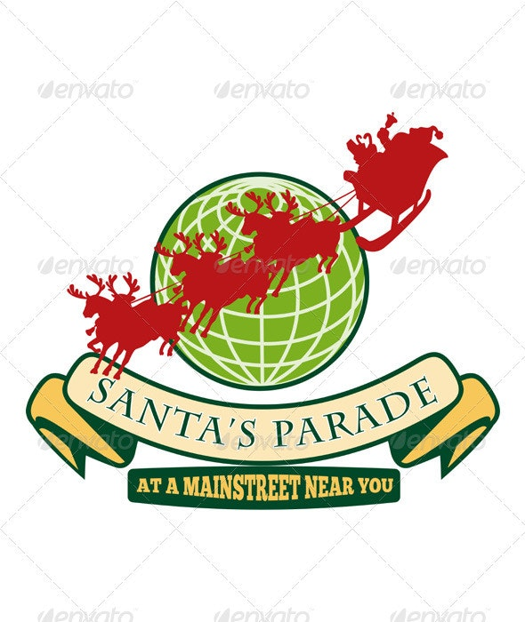 Santa Claus Christmas Globe Reindeer - Christmas Seasons/Holidays
