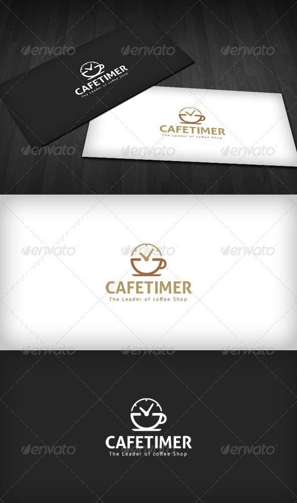 Cafe Timer Logo - Food Logo Templates