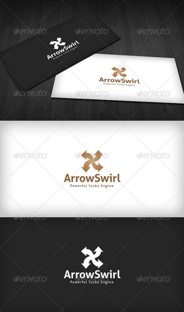 Arrow Swirl Logo - Vector Abstract
