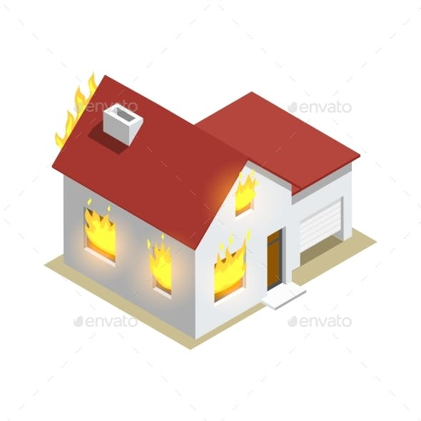 Home Insurance Isometric Composition