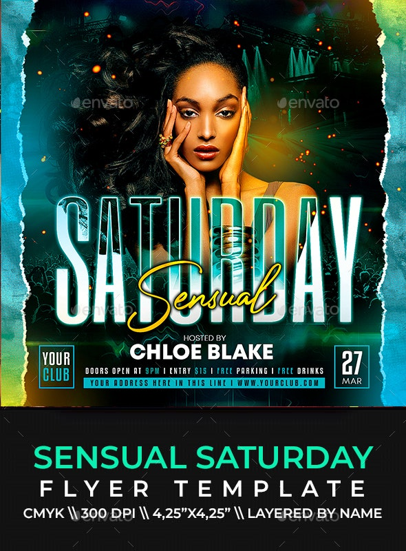 Sensual Saturday Flyer