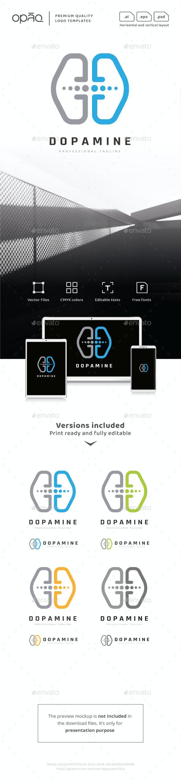 Brain Hemisphere Transmitter Logo - Symbols Logo Templates