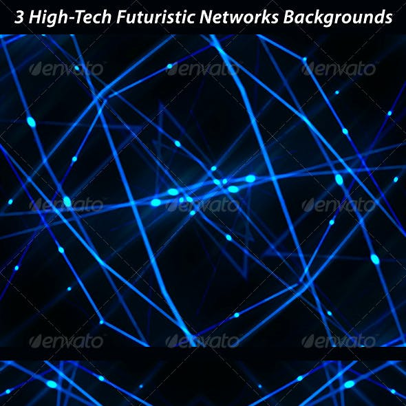 3 High Tech Futuristic Networks Backgrounds