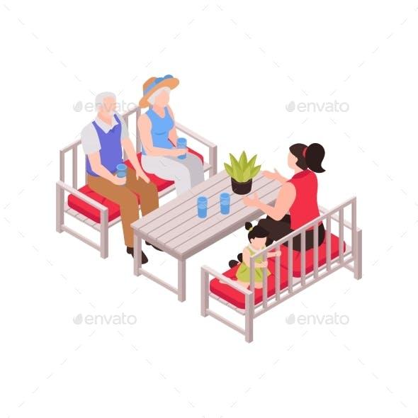 Grand Parents Table Composition