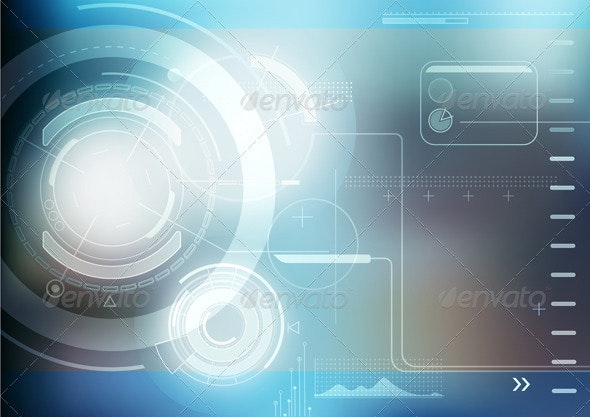 Abstract hi-tech background - Technology Conceptual