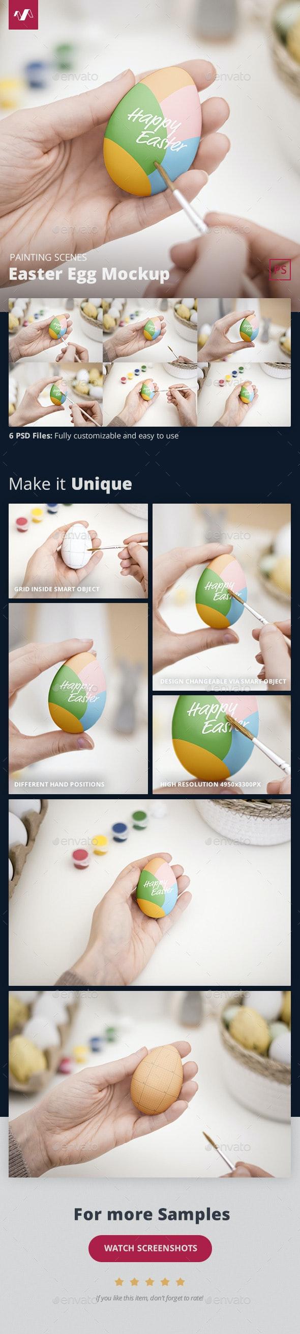 Easter Egg Mockup Painting Scene - Miscellaneous Product Mock-Ups