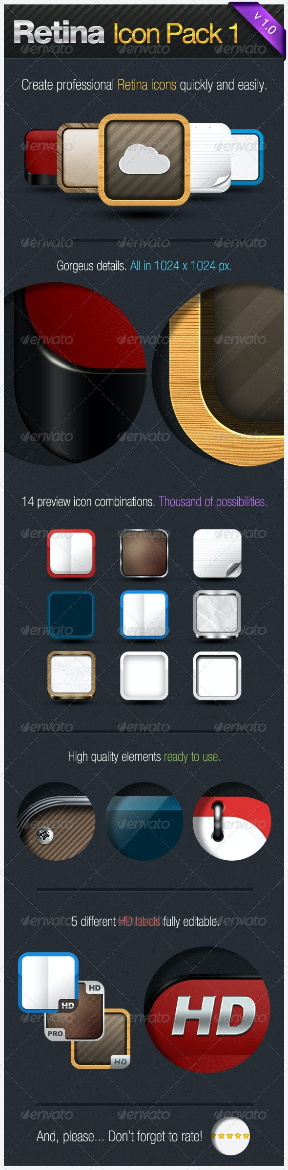 Retina Icon Pack I - Software Icons