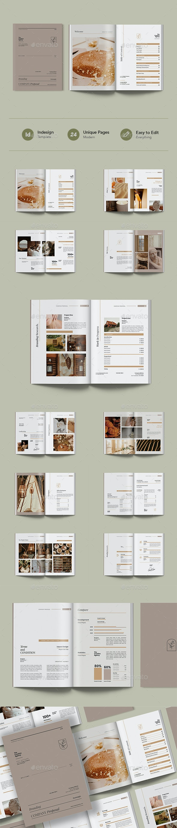 Simple and Elegant Company Proposal Template - Proposals & Invoices Stationery