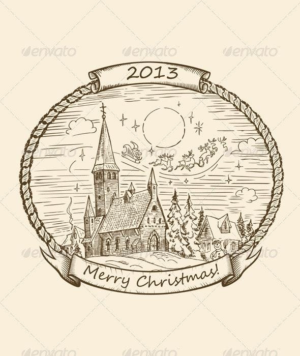 Retro Christmas Illustration - Christmas Seasons/Holidays