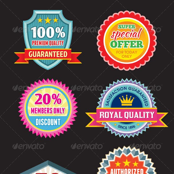 Badges Stickers - set 01