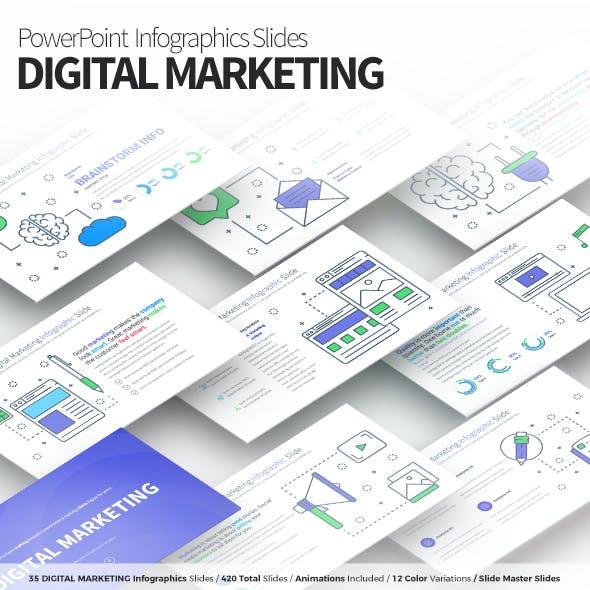 Digital Marketing - PowerPoint Infographics Slides