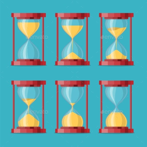 Antique Sand Clock Sprite Sheet Animation