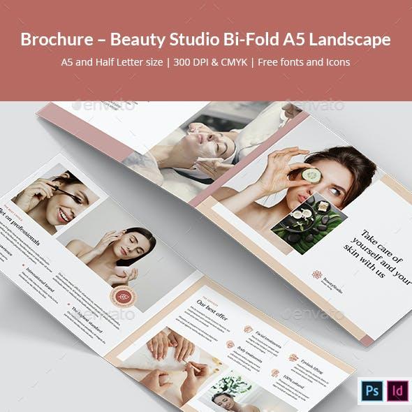 Brochure – Beauty Studio Bi-Fold A5 Landscape