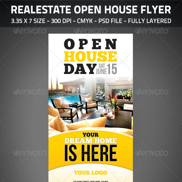 Realestate Open House Flyer