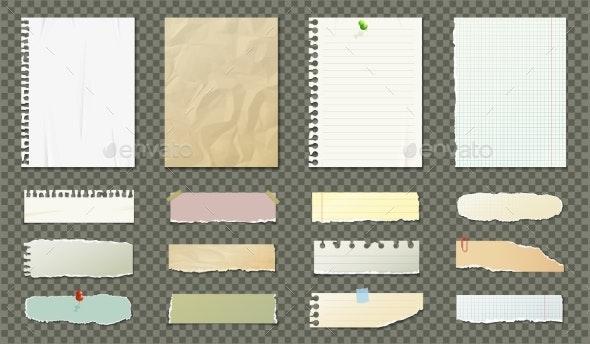 Paper Blank Sheets Set - Backgrounds Decorative