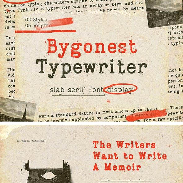 Bygonest - Old Typewriter Font